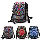 Latest Lady Cell Phone Bag Retro Embroider Purse Messenger Crossbody Bag Wallet image