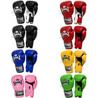 Top King Muay Thai Boxing Gloves Super Air Leather Training : 8 10 12 14 16OZ
