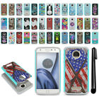 For Motorola Moto Z Play Droid XT1635 Hybrid Bumper Shockproof Case Cover + Pen