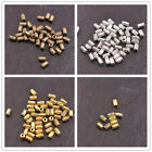 50/100Pcs Antique Silver/Gold/Bronze tube Charm Spacer Beads for Bracelet 3139