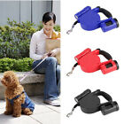 5M LED Pet.Dog Retractable Leash Lead Extendable Training with Garbage Separator