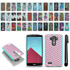For LG G4 H815 F500 VS986 H810 Hybrid Bumper Shockproof Case Cover + Pen