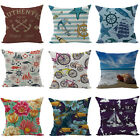 New Ocean Pillow Case Sofa Bed Car Decor Cotton Linen Lovely Cushion Cover