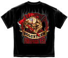 Firefighter T-Shirt Fire Dog Volunteer Black