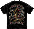 Military T-Shirt American Soldier Black