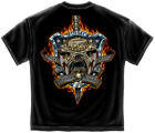 US Marine Corps Short Sleeve Shirts, Devil Dog Always A Marine Corps  (Black)