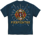 Firefighter T-Shirt Firefighter Pikes Navy