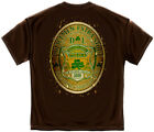 Law Enforcement T-Shirt Police Dl Bottled By Ireland'S Finest Police Brown