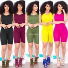 Women Casual Sleeveless Bodycon Romper Jumpsuit  Bodysuit Short Pants SH01
