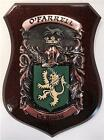Leahy to Lister Family Handpainted Coat of Arms Crest PLAQUE Shield
