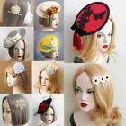 Headdress Fascinator Pearl Hairpin Party Hat Hair Clip Flower Lady