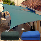 9.8' x13' Sun Shade Sail Outdoor Patio Pool Lawn Rectangle Cover UV Block Canopy