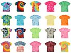 Multi-Color Tie Dye T-Shirts Adult SM - XXXXXL 100% Cotton Colortone-Gildan image