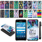 For Kyocera Hydro View C6742/ Shore Hybrid Bumper Protective Case Cover + Pen
