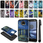 For Motorola Moto Z Force Droid Edition Hybrid Bumper Case Phone Cover +Pen