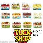 50 DIFFERENT TUBS TUCK SHOP SWEETS BELTS PENCILS LACES CANDY CHOCOLATE FRESH
