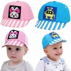 Cotton Unisex Fashion Hats Sun Hat Cartoon Stripe Adjustable Baby Caps AB