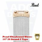 "Pearl UltraSound Snare Drum Wires: 13""/14"" 20 Strand D/I/C/ Type (Ultra Wire)"