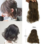 25cm Long Body Wavy Hairpiece Curly Fluffy Natural Black Brown Hair Extension