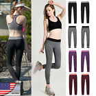New Women Sports Leggings Running Fitness Yoga Gym Stretch Pants Trousers