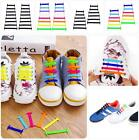 12 pcs Easy No Tie Shoelaces Elastic Silicone Flat Shoe Lace Set for Kids Adults