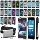 For Kyocera Hydro View C6742/ Shore Shockproof Brushed Hybrid Cover Case + Pen