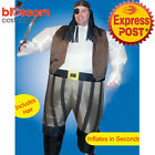 K354 Pirate Adult Mens Fan Inflatable Costume Suit Caribbean Blow Up Funny Fancy