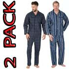 Mens Traditional Pure 100% Cotton pyjama  Flannel 2 pack pyjamas M TO XXXXXL