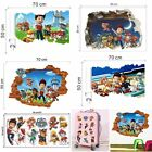 3D PVC Paw Patrol Kid Cartoon Wall Decals Art Sticker Bedroom Decor Kid Gifts