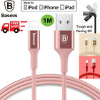 Genuine Baseus Metallic Lightning USB Cable Charge Sync F iPhone 7 6 6S Plus LOT