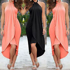 Women Summer Sleeveless Long Maxi Dress Evening Cocktail Party Beach Sundress