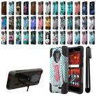 For ZTE Grand X 4 X4 Z956 Z957 Damon Hybrid Dual Layer Stand Case Cover + Pen