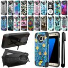 For Samsung Galaxy S7 Edge G935 Hybrid Dual Layer Kickstand Case Cover + Pen