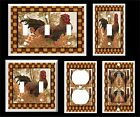 COUNTRY ROOSTER BROWN PRIMITIVE LIGHT SWITCH COVER PLATE  # 2 HOME DECOR