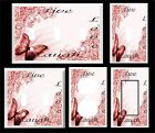 BUTTERFLY LIVE LAUGH LOVE ROSE PINK FLORAL LIGHT SWITCH COVER PLATE HOME DECOR