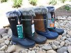 Sporto Waterproof Suede & Leather Duck Winter Tall Lace up Faux Fur Boots