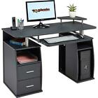 Computer Desk with Shelves Cupboard & Drawers for Home Office Piranha Tetra PC 5