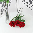 1/5/10 Artificial Silk Fake Flowers Red Rose Floral Wedding Bouquet Bridal Decor