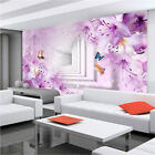 3D Sitting room the bedroom TV background Outspread space flowers wallpaper 2478