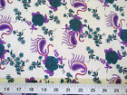 Discount Fabric Challis Rayon Teal Floral Purple Paisley 2 yds @ $6.99 201J
