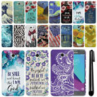 For Samsung Galaxy J3 Emerge J327 2017 2nd Gen Marble HARD Back Case Cover + Pen