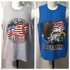 Freedom USA Flag or Eagle Flag Men's Tank Top Sleeveless T Shirt Size S