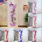 HOT US STOCK 3D Flower Room Decor DIY Wall Sticker Removable Acrylic Decal Mural