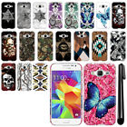 For Samsung Galaxy Core Prime G360 Butterfly Design HARD Back Case Cover + Pen