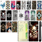 For Sony Xperia X F5121 F5122 Butterfly Design HARD Back Case Phone Cover + Pen