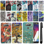 For LG V20 VS995 H990 LS997 H918 US996 Marble Design HARD Back Case Cover + Pen