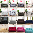 Flower / 8 Solid Pure Colour Lounge Couch Stretch Sofa Cover 1 2 3 4 Seater