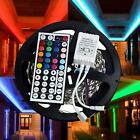 5-100M 5050 RGB White LED music Strip 20/44 Keys Remote IP65 Home Christmas Xmas