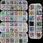 1800Pcs 3D Nail Art Glitter Gem Rhinestone Teardrop For Acrylic Decoration New