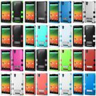 Tuff Hybrid Armor Hard Silicone Case Cover Shockproof For ZTE ZMAX Z970